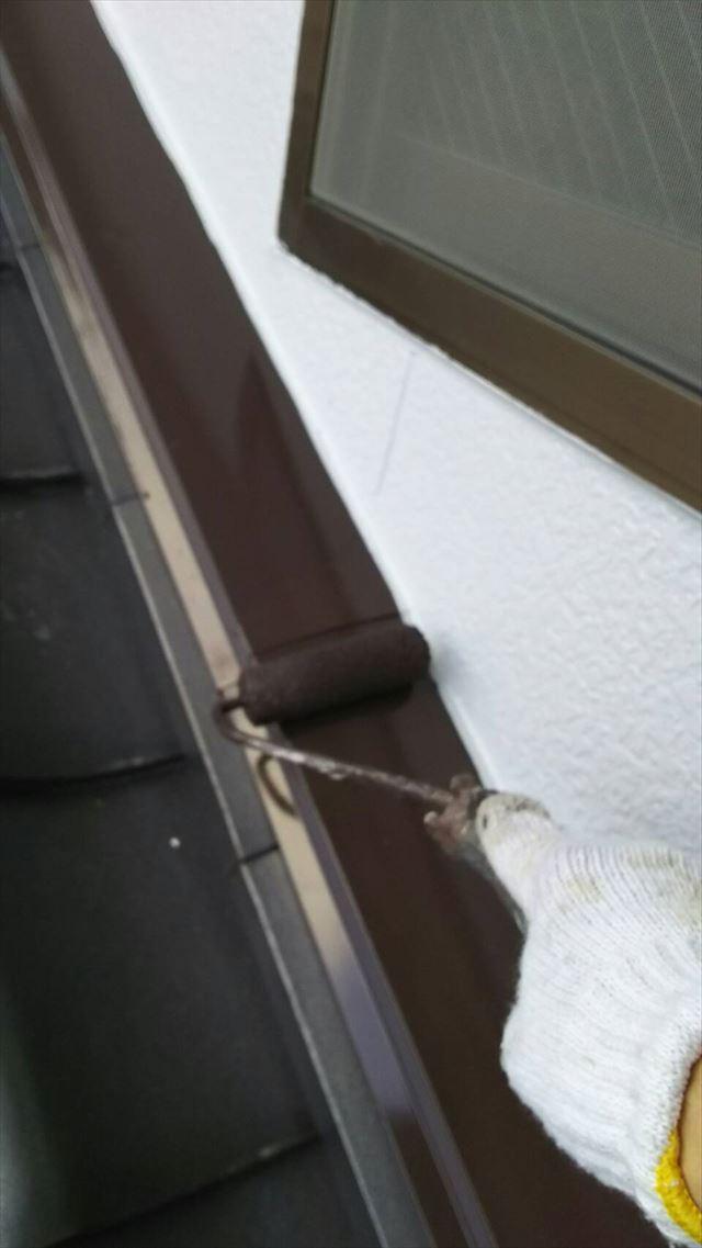 岐阜市下屋根水切り塗装