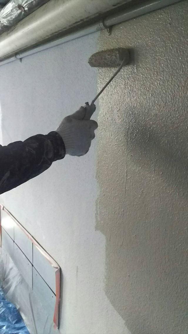 岐阜市駐車場内の塗装
