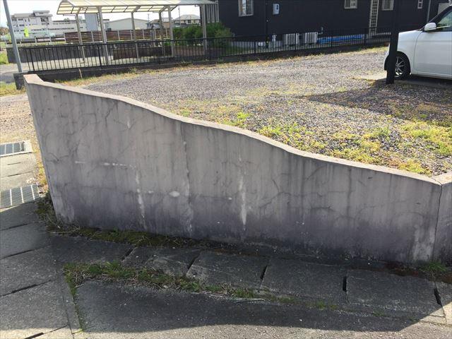 岐阜市で塀の補修をしてから塗装を行いました