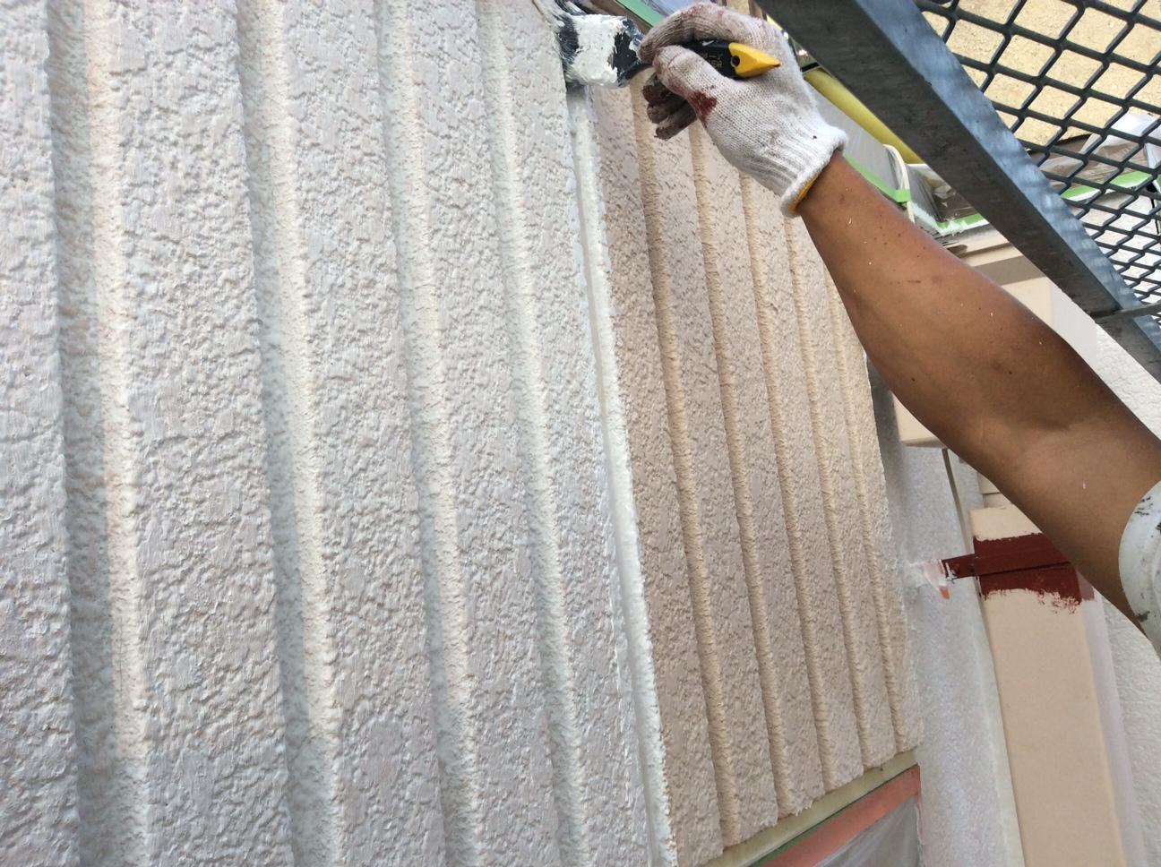 大垣市外壁塗装下塗り