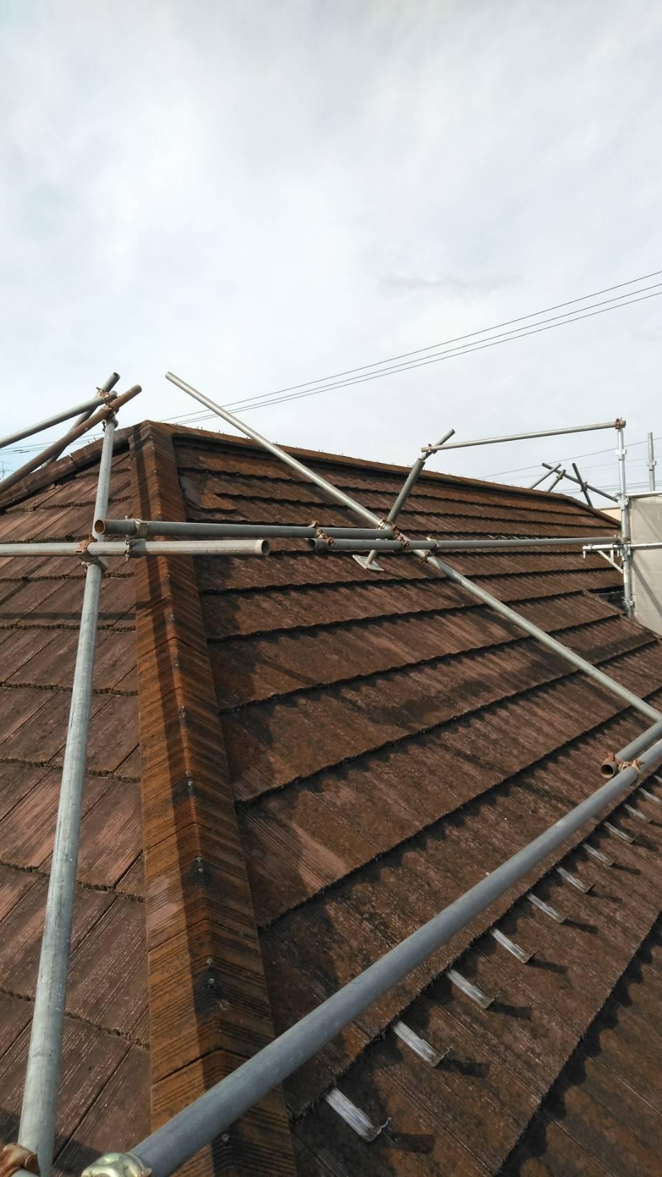 屋根モルタル漆喰