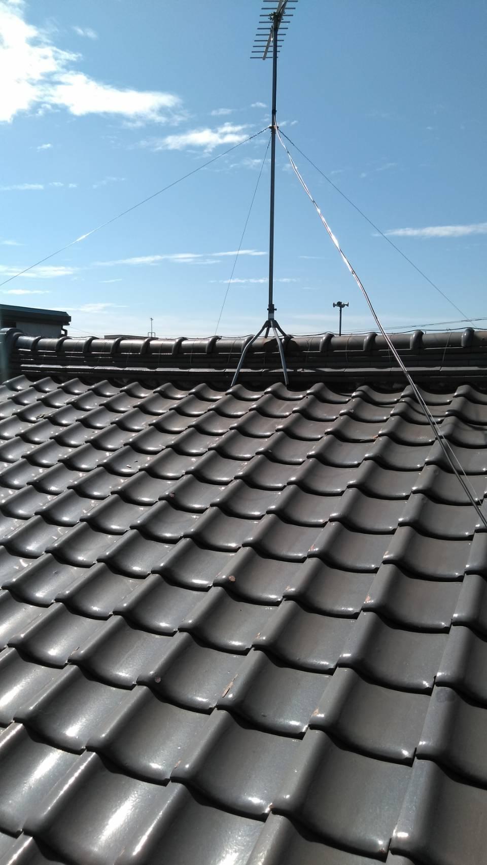 岐阜市で屋根漆喰下塗り工事を行いました