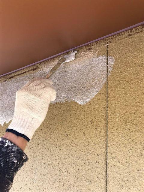 安八町の外壁下塗り