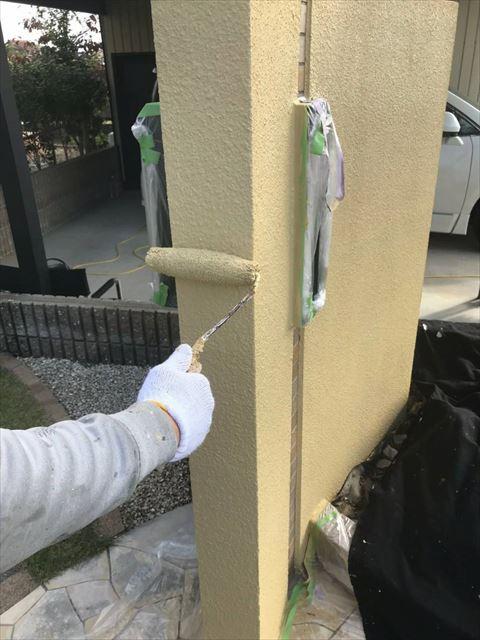 安八町塀塗装