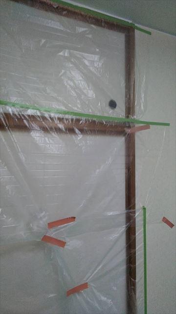 岐阜市アパート天井塗装