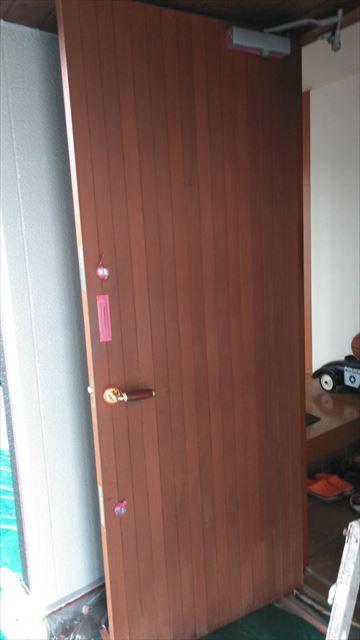 玄関扉キシラデコール塗装