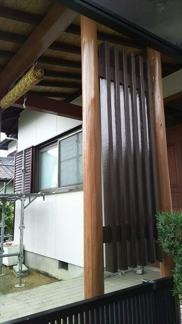 春日井玄関前塗装
