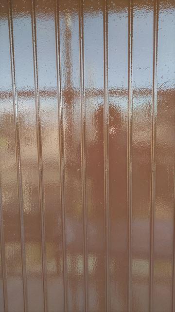 雨戸裏の外壁作業