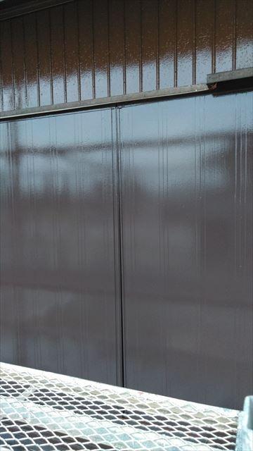 雨戸塗装作業