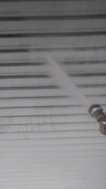 安八町店舗の高圧洗浄
