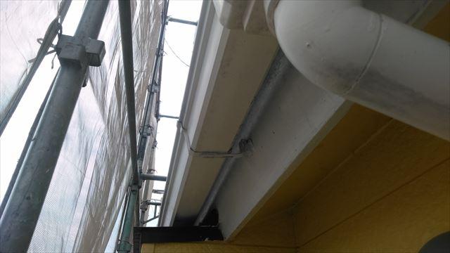 岐阜市の2階建て住宅で外壁塗装工事が始まりました。