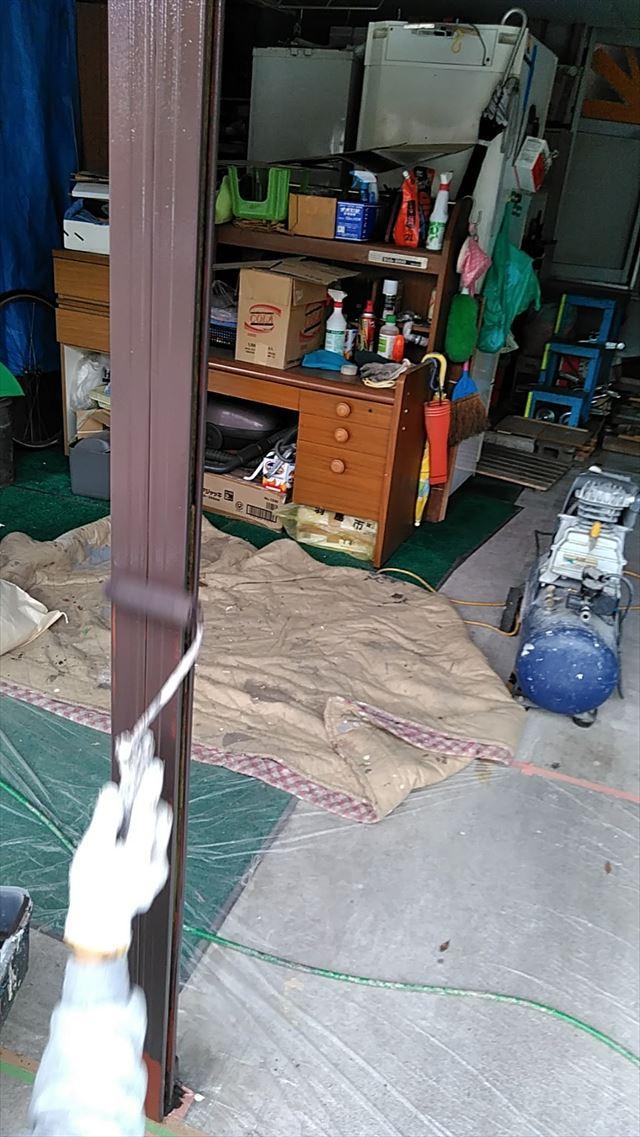 笠松町住宅 シャッター塗装