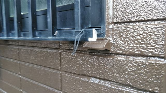 お風呂場外壁補修
