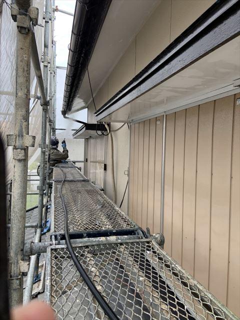岐阜市2階建て住宅で外壁塗装工事が始まりまりました