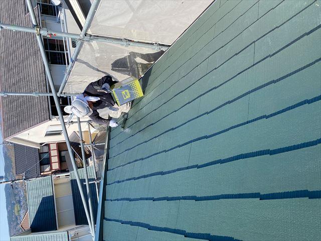 岐阜市屋根上塗り作業