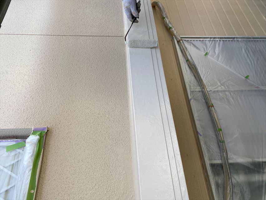 外壁帯作業
