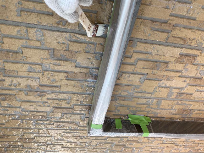 瑞穂市外壁下塗り作業