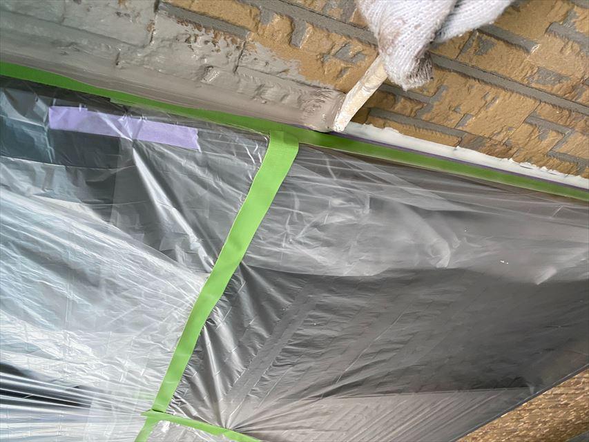 瑞穂市外壁中塗り作業